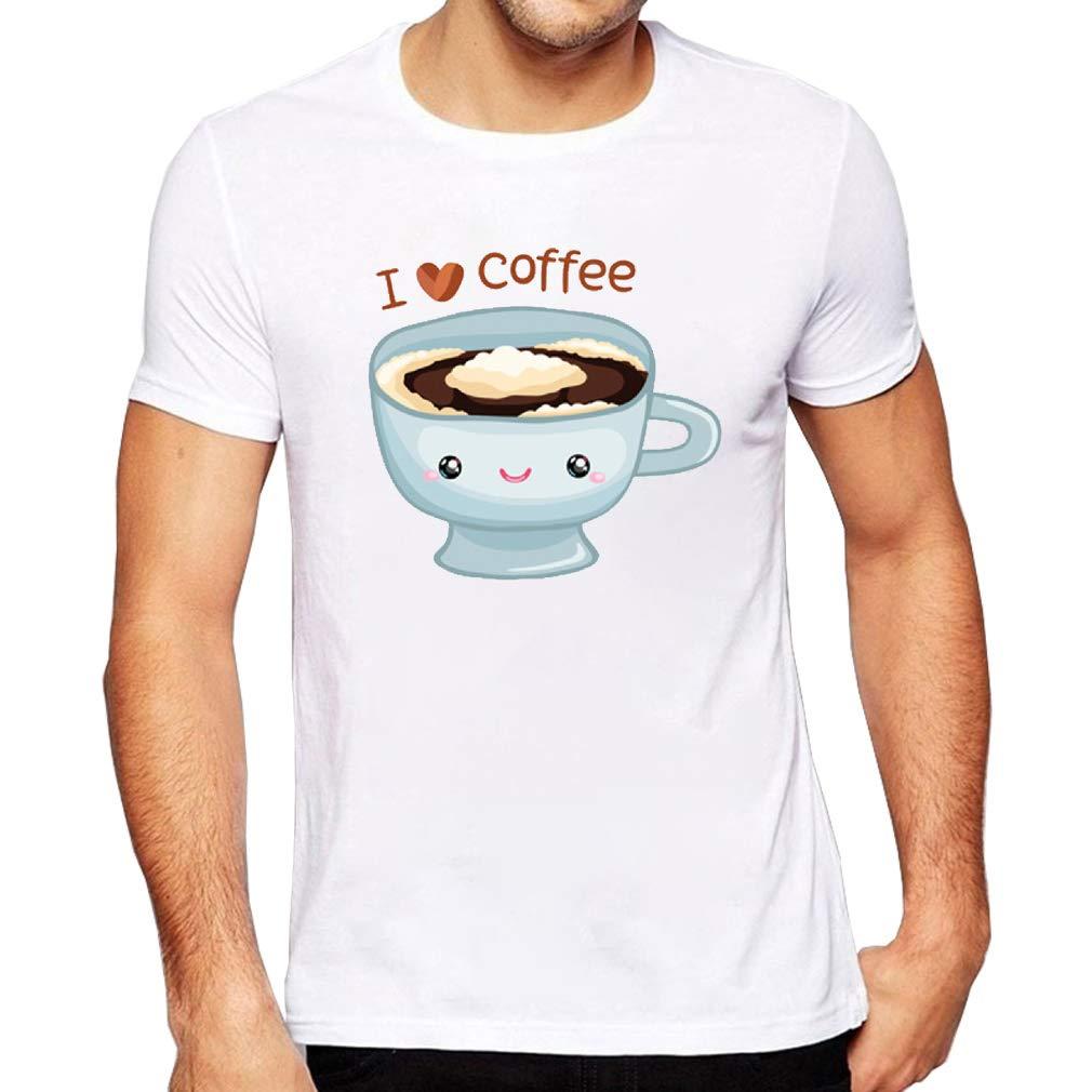 Jmgirl Cute Coffee Mens Mens Pattern Logo T-Shirt