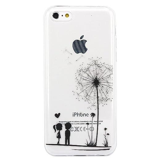 2 opinioni per iPhone 5c Custodia, JIAXIUFEN TPU Gel Silicone Protettivo Skin Custodia