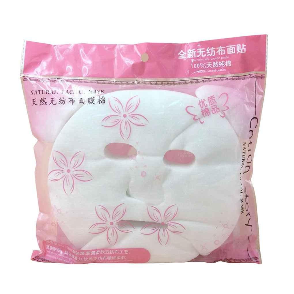 LUFA 100pcs cosmética bricolaje Cuidado de la piel del algodón puro para no comprimido Ultra Thin Máscara facial desechable Hoja de papel