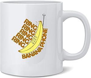 Poster Foundry Ring Ring Banana Phone Ceramic Coffee Mug Tea Cup Fun Novelty Gift 12 oz