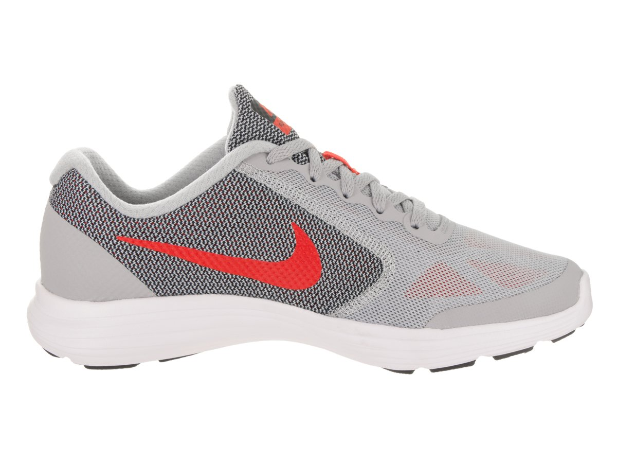 NIKE ' Revolution 3 (GS) Running Shoes B076BRGNRH 4.5 Big Kid M|Grey Orange Black White