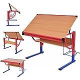 Zeichentisch Architektentisch Schreibtisch Bürotisch Arbeitstisch Computertisch mit kippbares Zeichenbrett Reißbrett höhenverstellbar