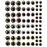 4D Fishing Lure Eyes Holographic Realistic DIY MakingFishing Lure Fake Eyes 5packs/lot,6mm,8mm,10mm