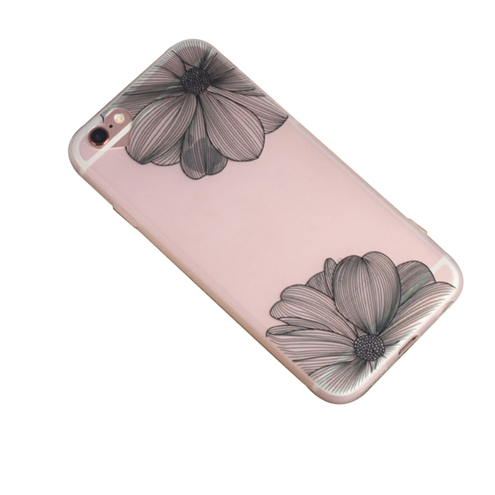 iPhone 6 Case, Luoke Solid TPU Silicone Gel Back Thin Cover Skin TPU Case for iPhone 6 4.7 Inch (Style 3)