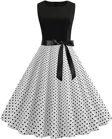 nuevo! Vestido Elegante De Verano De Retales Blanco Y Negro