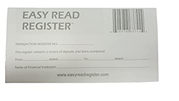Amazon.com : 3 Pack Easy Read Transaction Checkbook Register 2016 ...
