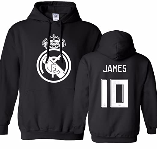 Tcamp Real Madrid Shirt James Rodriguez #10 Jersey Mens Hooded Sweatshirt at Amazon Mens Clothing store: