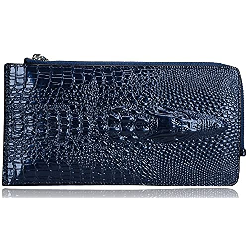 1b3ce0c90bf6 new Pijushi Embossed crocodile Genuine Leather Zipper Wallet Purse with Gift  Box 231-2511