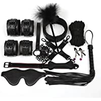 SLH Bundle 10-piece Suit Toy handcuffs key police role-playing party supplies role-playing clothing accessories pretend to play children's handcuffs T-shirt (Color : Black)