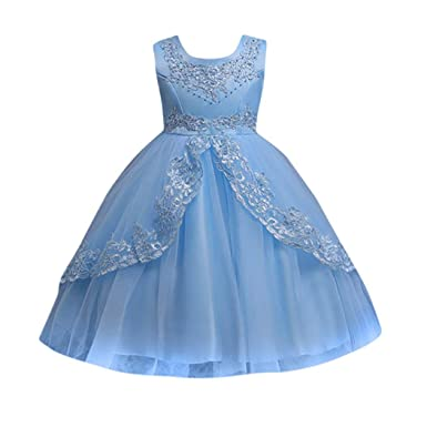 6639b66dceef Girls Princess Dress,for 3-12 Years Old,Toddler Kids Pretty Lace Flower