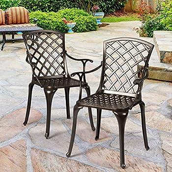 Amazon.com : Belham Living Stanton Wrought Iron Coil ... on Belham Living Capri Wrought Iron Outdoor Bistro Set By Woodard id=54404