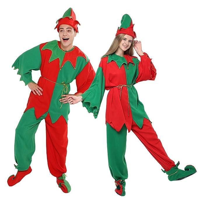EraSpooky Adulto Disfraz de Navidad Elfo Traje Vestido de Fantasía ...
