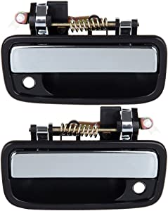 ECCPP Door Handles Exterior Outside Outer Front Driver Passenger Side for 1995-2004 Toyota Tacoma Black(2pcs)