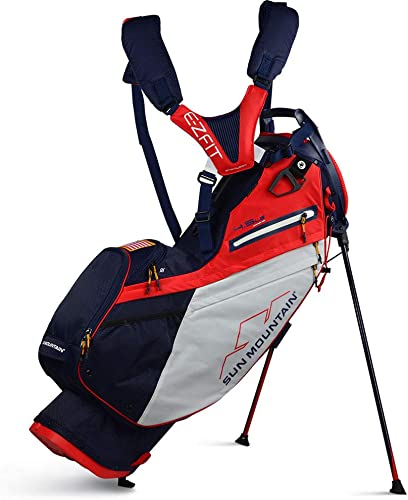 Sun Mountain 2020 4.5 LS Stand Bag Navy-White-RED, 4.5 LS 14-W