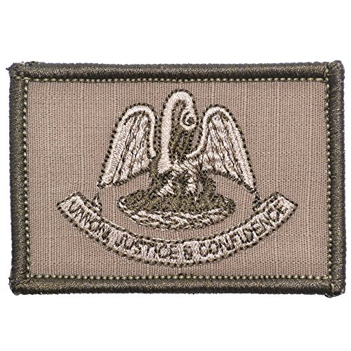 Louisiana State Flag - 2x3 Morale Patch - Coyote Brown