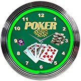 Neonetics Bar and Game Room Poker Neon Wall Clock, 15-Inch Review