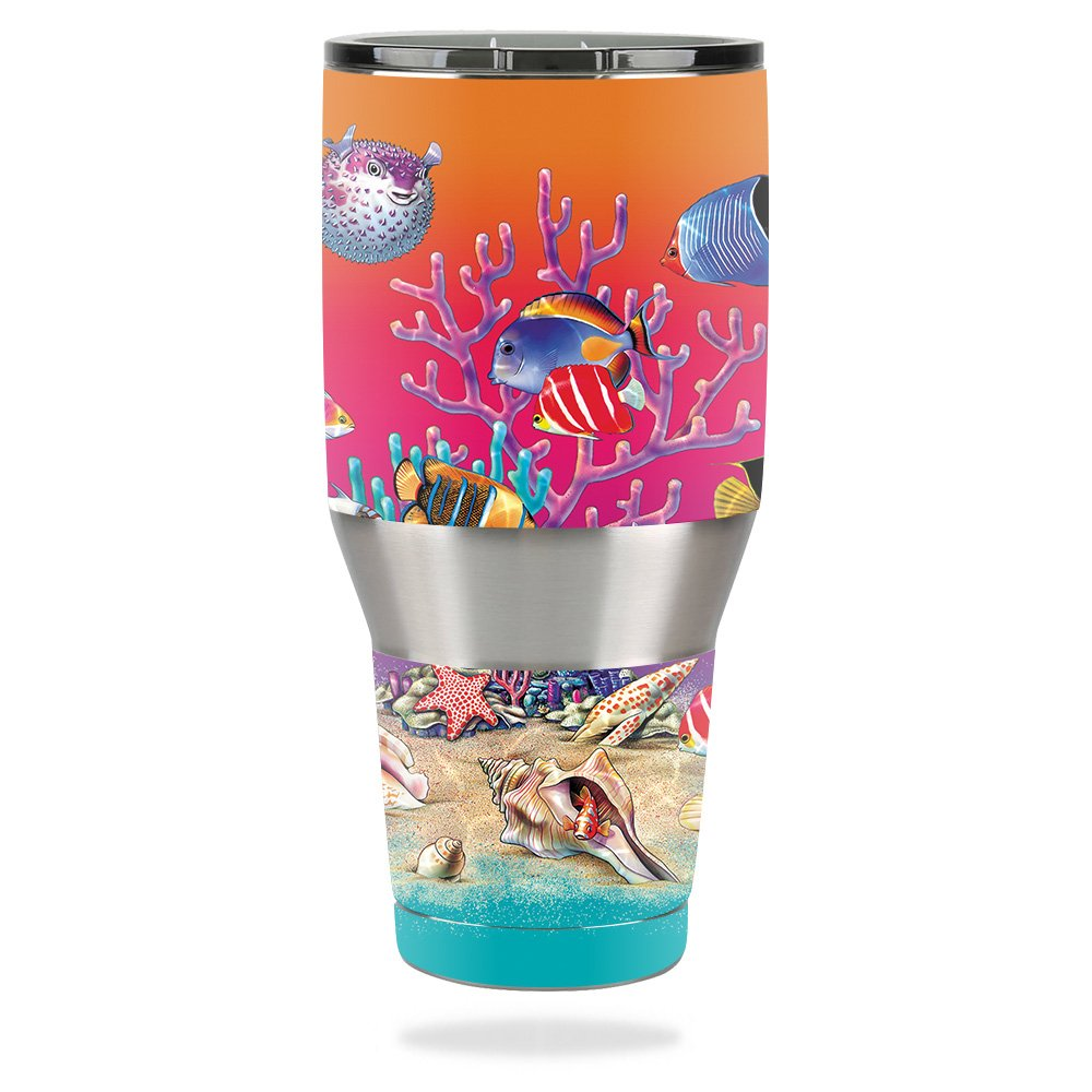 MightySkins Skin for Ozark Trail 40 oz Tumbler – Coral Garden   Protective, Durable, and Unique Vinyl Decal wrap Cover   Easy to Apply, Remove, and Change Styles   Made in The USA