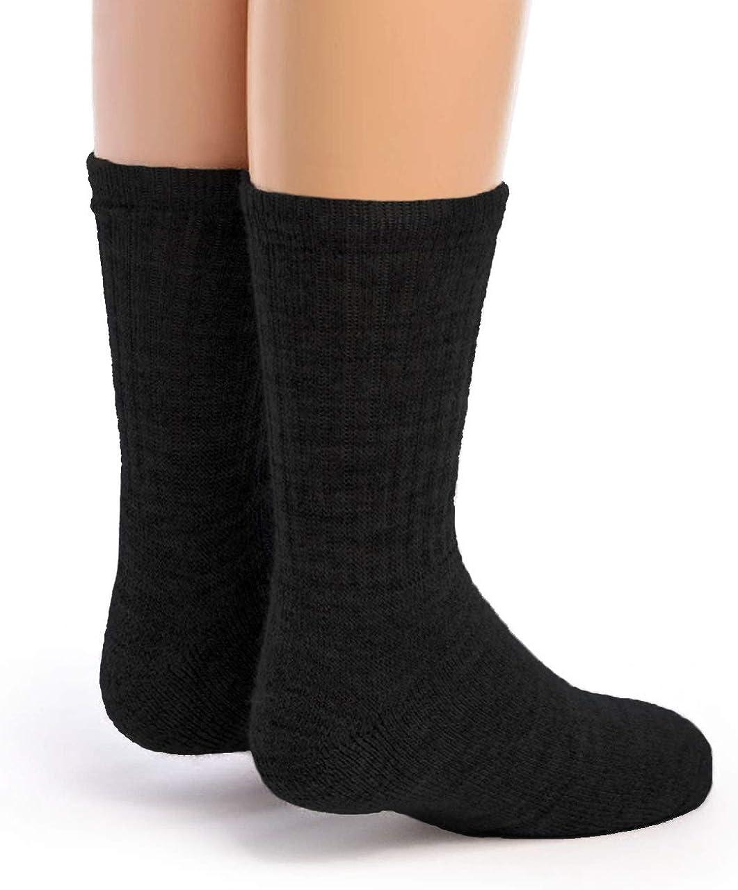 Ribbed Warrior Alpaca Socks Terry Lined Footbed Crew Boys Outdoor Alpaca Wool Socks