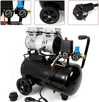 Compresor de aire de 24 L, 750 W, sin aceite, compresor de aire, 8 bar, compresor de aire a presión 1400 U/m, sin aceite, 60 L/min DHL: Amazon.es: Bricolaje y herramientas