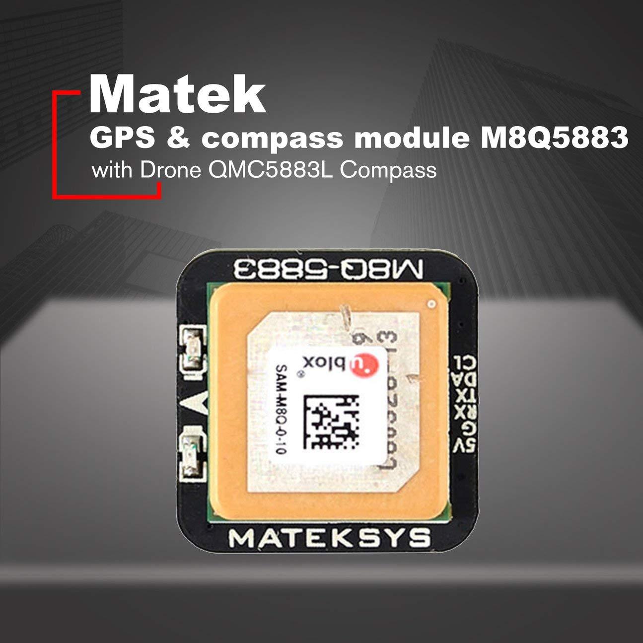 Matek Systems M8Q5883 Ublox SAMM8Q Mini-GPS mit QMC5883L-Kompassmodul für RC FPV, das Drohne-Qudcopter-Multi-Farbe