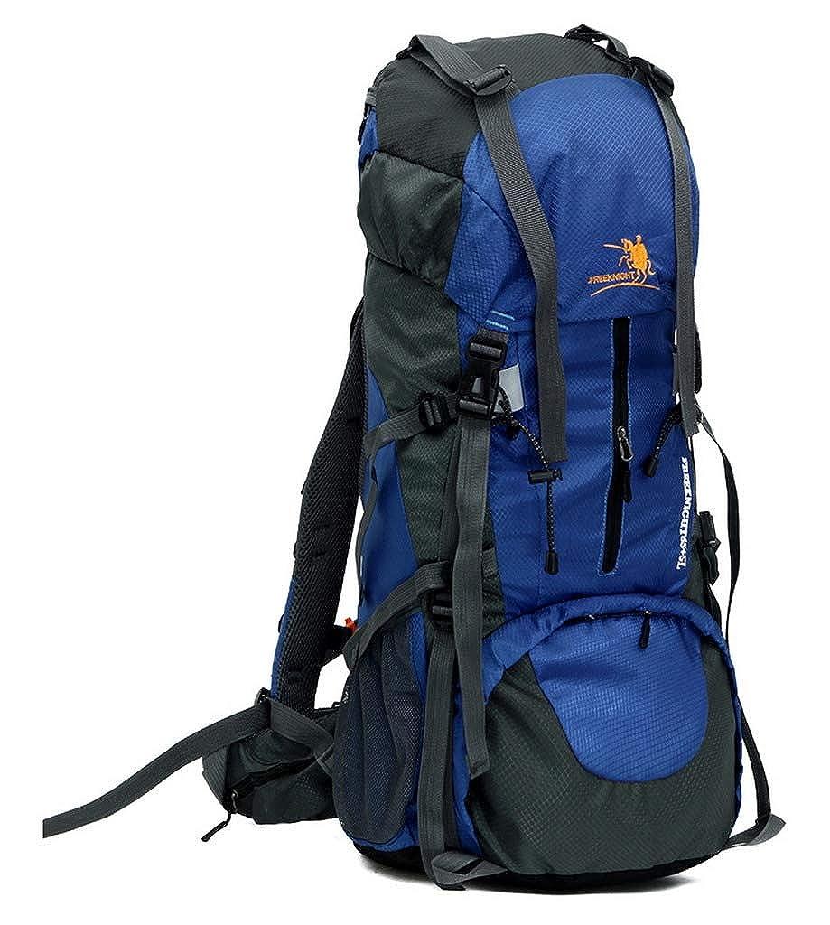 Bleu  Xiang Ru 60+5L Randonnée Alpinisme Sac à Dos Imperméable sacage pour Voyage