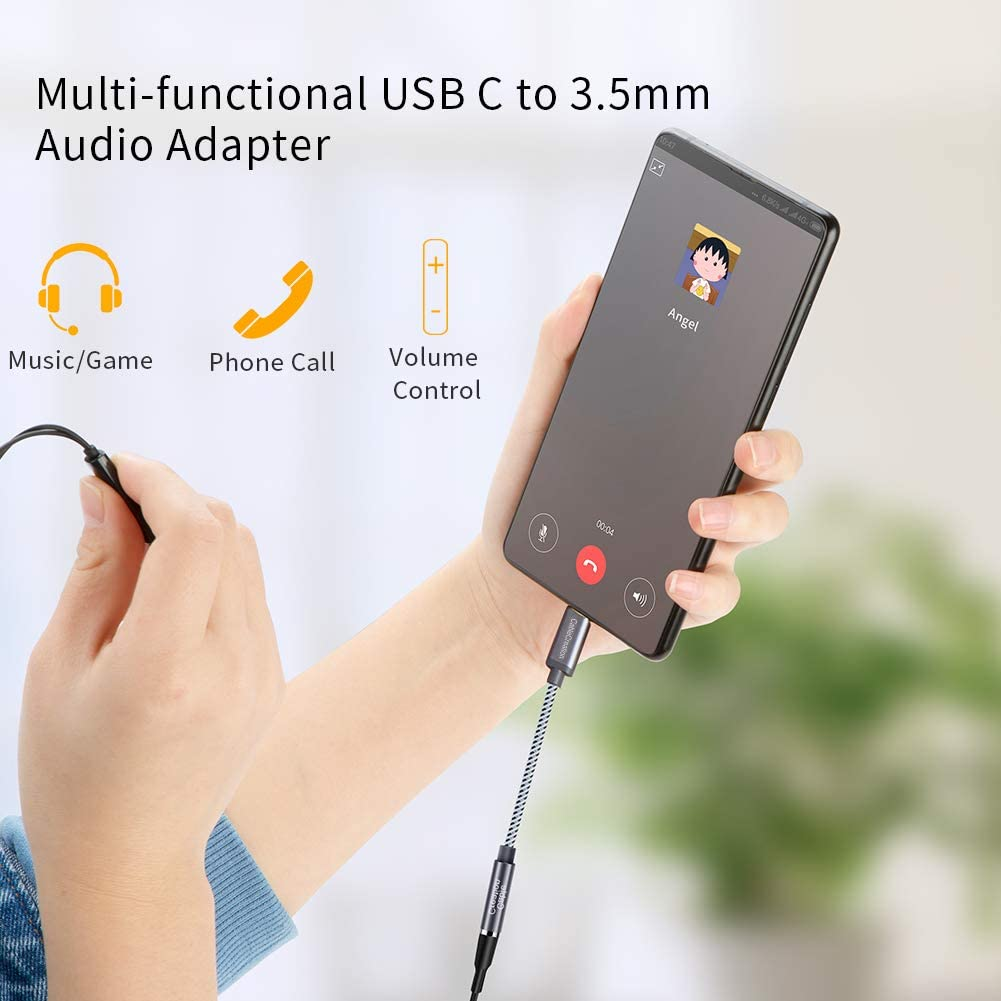0.1M // Space Gray CableCreation 0.33 ft Type C to Aux Microphone Female Converter Realtek DAC Chipset USB C to 3.5mm Headphone Audio Jack Adapter Compatible for Pixel 3 3 XL 2 2XL etc