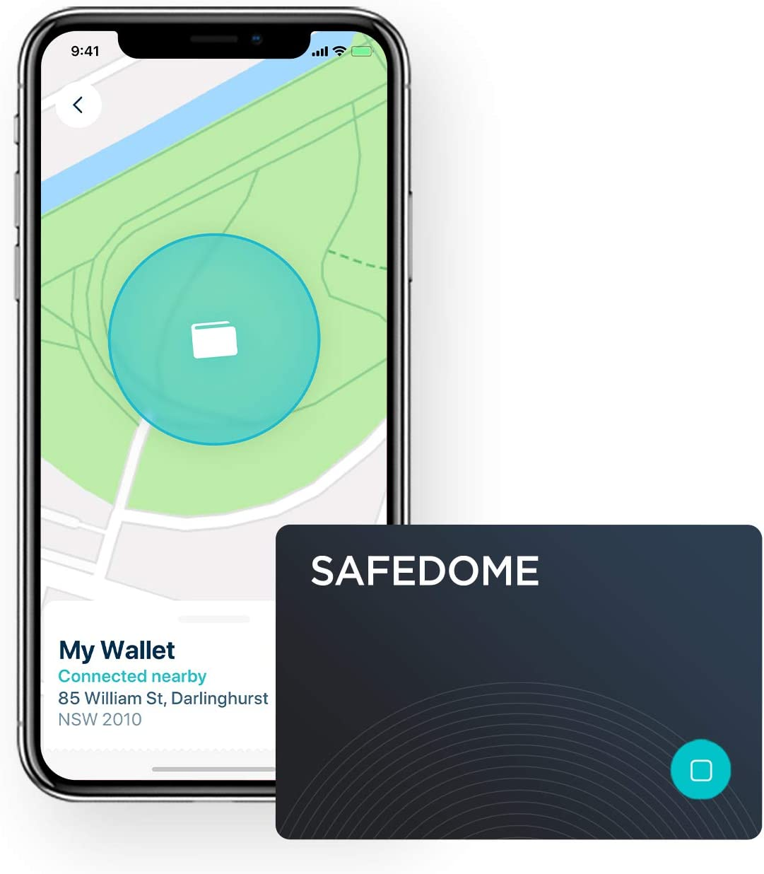 Safedome Classic Bluetooth Lost Item Tracker Card, Water-Resistant Item Finder with GPS-Like Tracking, World's Thinnest Bluetooth Card Fits Any Wallet