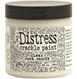 Ranger TDC31888 Tim Holtz Distress Crackle Paint 4 oz Jar, Clear Rock Candy