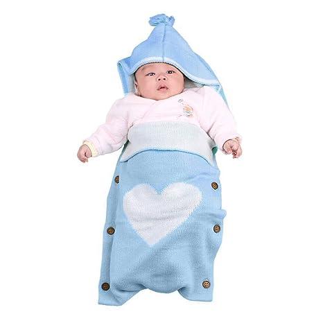 Manta de bebé recién nacido Swaddle, Swaddle Wrap Manta para bebés, Gozing Grandes Swaddle Soft Unisex para niños de 0-12 meses o niñas (azul)