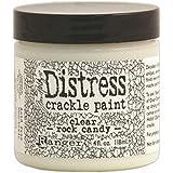 Ranger TDC31888 Tim Holtz Distress Crackle Paint 4 oz Jar, Clear Rock Candy