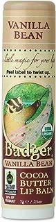 product image for Badger - Cocoa Butter Lip Balm, Vanilla Bean, Certified Organic Lip Balm, Fair Trade, Natural Lip Balm, Lip Butter, Lip Balm Cocoa Butter, Cocoa Care Lip Balm, 0.25 oz
