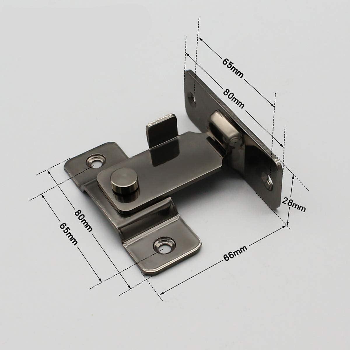 Espesar 304 acero inoxidable 90 grados /ángulo recto hebilla gancho perno de bloqueo para la puerta deslizante,hardware de bloqueo perno accesorios para el hogar,Negro brillante