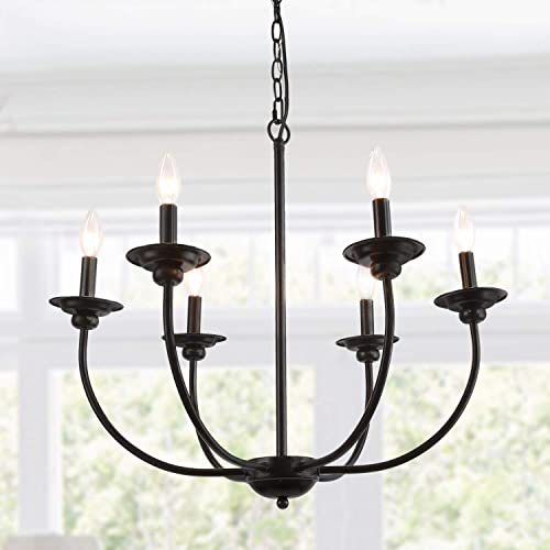 LALUZ 6-Light Transitional Chandeliers Pendant Lights