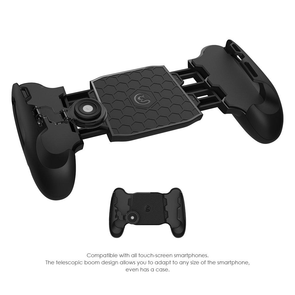 Gamesir F1 Grip Pubg Game Controller Mobile Joystick Gamepad Ergonomic Design Handle Holder Handgrip Stand Support 55 65 Smartphone Black F1jg