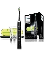 Philips Sonicare Diamond Clean HX9352/04 - Cepillo de Dientes Electrico Recargable, 5 Modos, 2 Cabezales, Vaso Cargador y Estuche USB, Color Negro