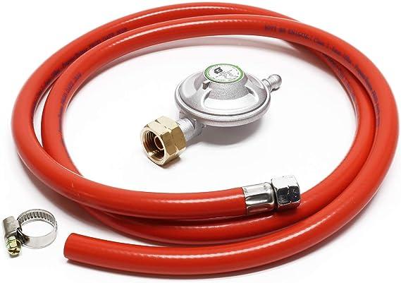 WilTec Manguera de Gas 1.5m y regulador de presión 28mbar ...