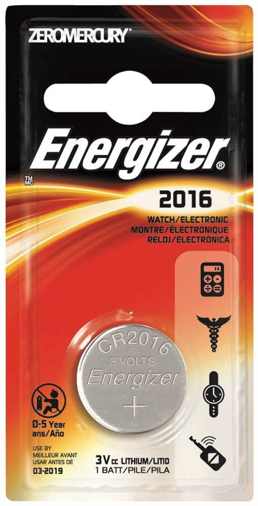 Watch/Electronic/Specialty Battery, 2016