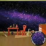 Wallpaper Stars – wall picture decoration childrens room outer space sky galaxy universe cosmos starry sky milky way super nova | paperhanging Wallpaper poster wall decor by GREAT ART (132.3 x 93.7 Inch / 336 x 238 cm)