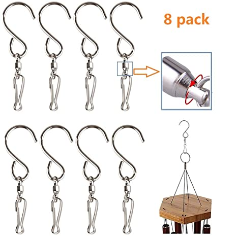 Easest Stainless Steel Swivel Hooks - Pack of 8