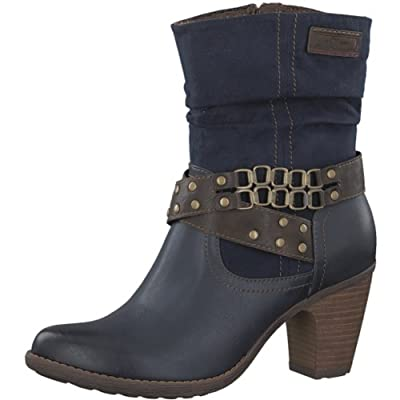 s.Oliver Women's Navy Mid Heel Boot