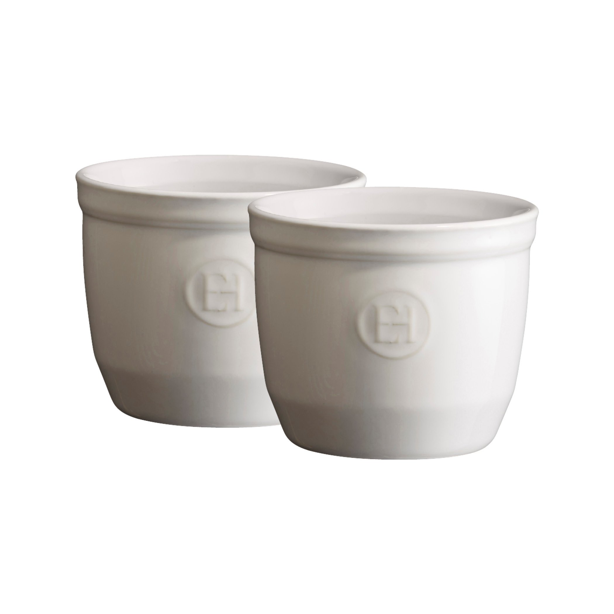 Emile Henry Made in France  6.75 oz  Ramekin (Set of 2), 3.25'' by 2.75'', Flour White