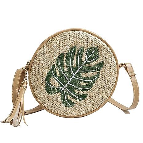 Damen Stroh Tasche Runde Rattan gemalt Stroh Tasche Handtaschen böhmischen  Stil Strand Strand Umhängetasche Vintage süße frische Straw Tote ...