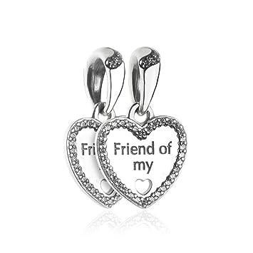 scarpe sportive a7e97 8bc3a Funshopp - Ciondoli/Charm, cuori dell'amicizia, autunnali, fai da te,  adatti per braccialetti Pandora originali, in argento 925