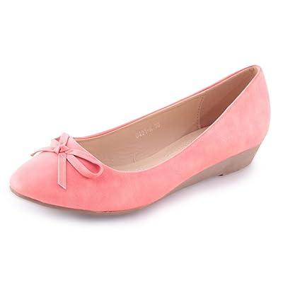 Ballerines Femme Classic Basic Confortable Chaussures Pumps 3CM Paragraphe - - Corail,