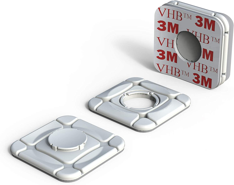 ClickClix Sistema de fijaci/ón Ideal Via-t//Telepeaje//Teletac Patentado GPS m/óvil Router Adhesivo 2 Unidades, Blanco