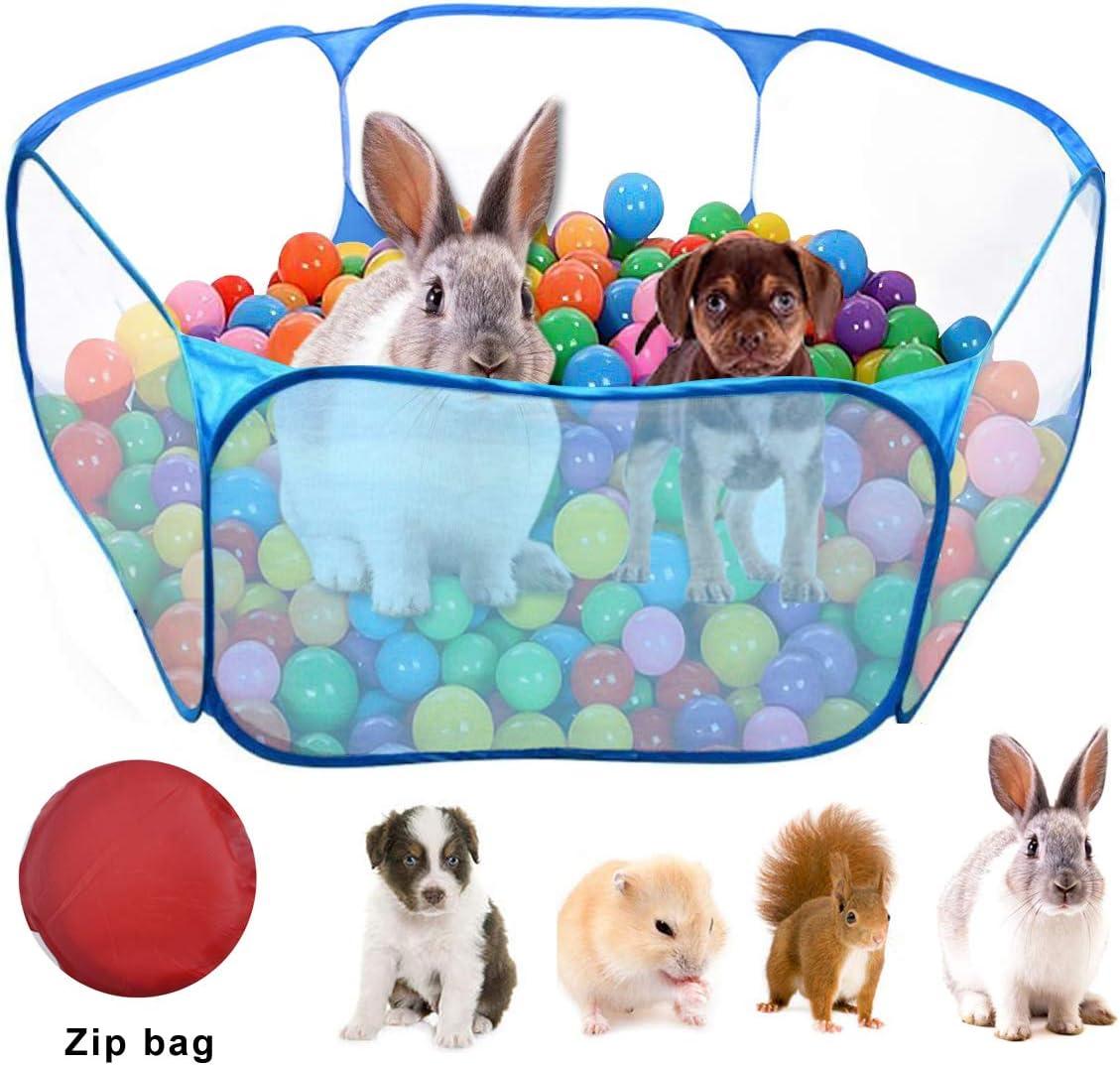WEONE Jaulas para Animales pequeños, Parque de Juegos portátil para Mascotas Ejercici, Transpirable Plegable Parque para Conejillos de Indias Conejos Hámster Chinchillas Erizos