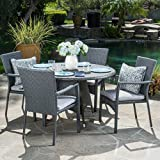 Oxford Outdoor 5 Piece Grey Wicker Dining Set with Cushions Review