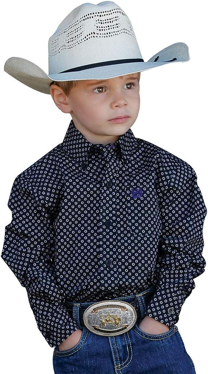Mtw7061212 Cinch Toddler-Boys Geo Print Long Sleeve Western Shirt