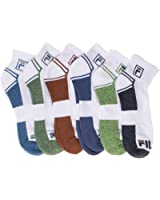 Fila Mens 6-Pack Men's Sport Quarter Socks