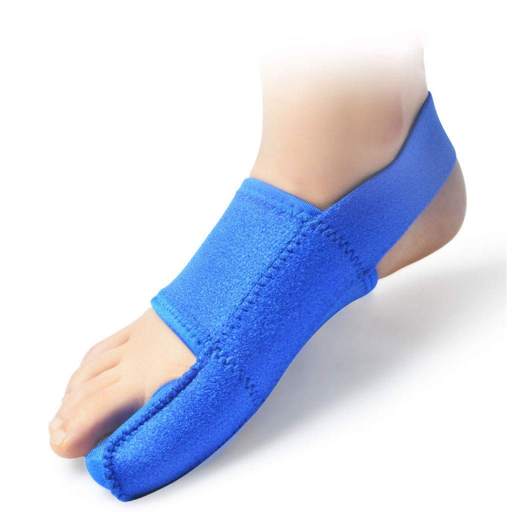 DONGBALA Elastic Bunion Corrector, Adjustable 24H Day Night Protector Sleeves Toe Straightener Hallux Valgus Toe Joint Easy Wear in Shoes for Woman and Man(Blue),rightfoot by DONGBALA